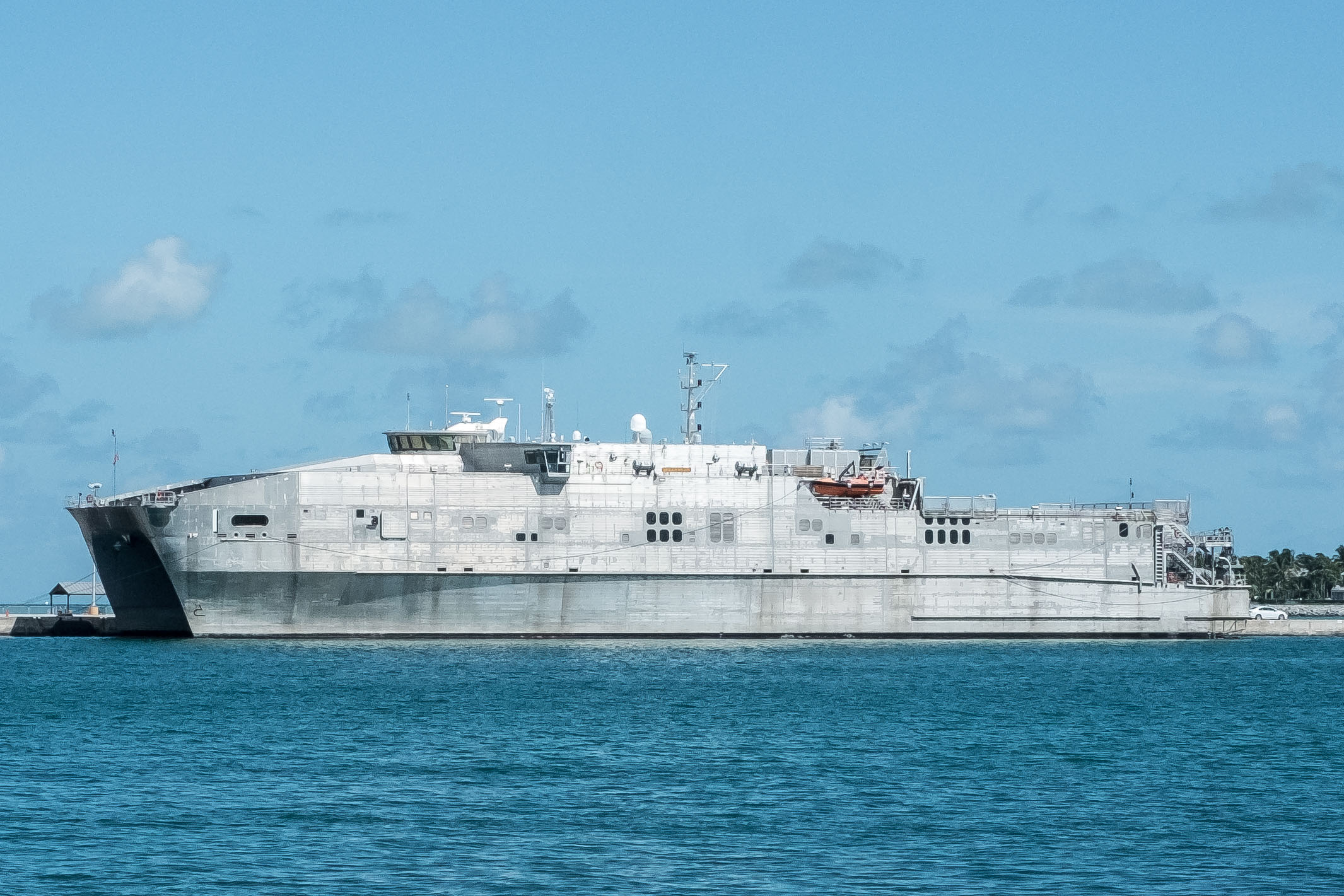 The USNS Spearhead docked at the Outer Mole in Key West.
