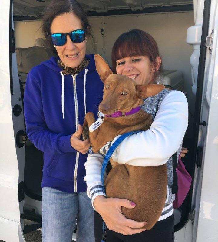 Argos founder,Beatriz Sanchez-Elvira Ribas, w ith rescuer Rosa Maria Barios and Rosa.