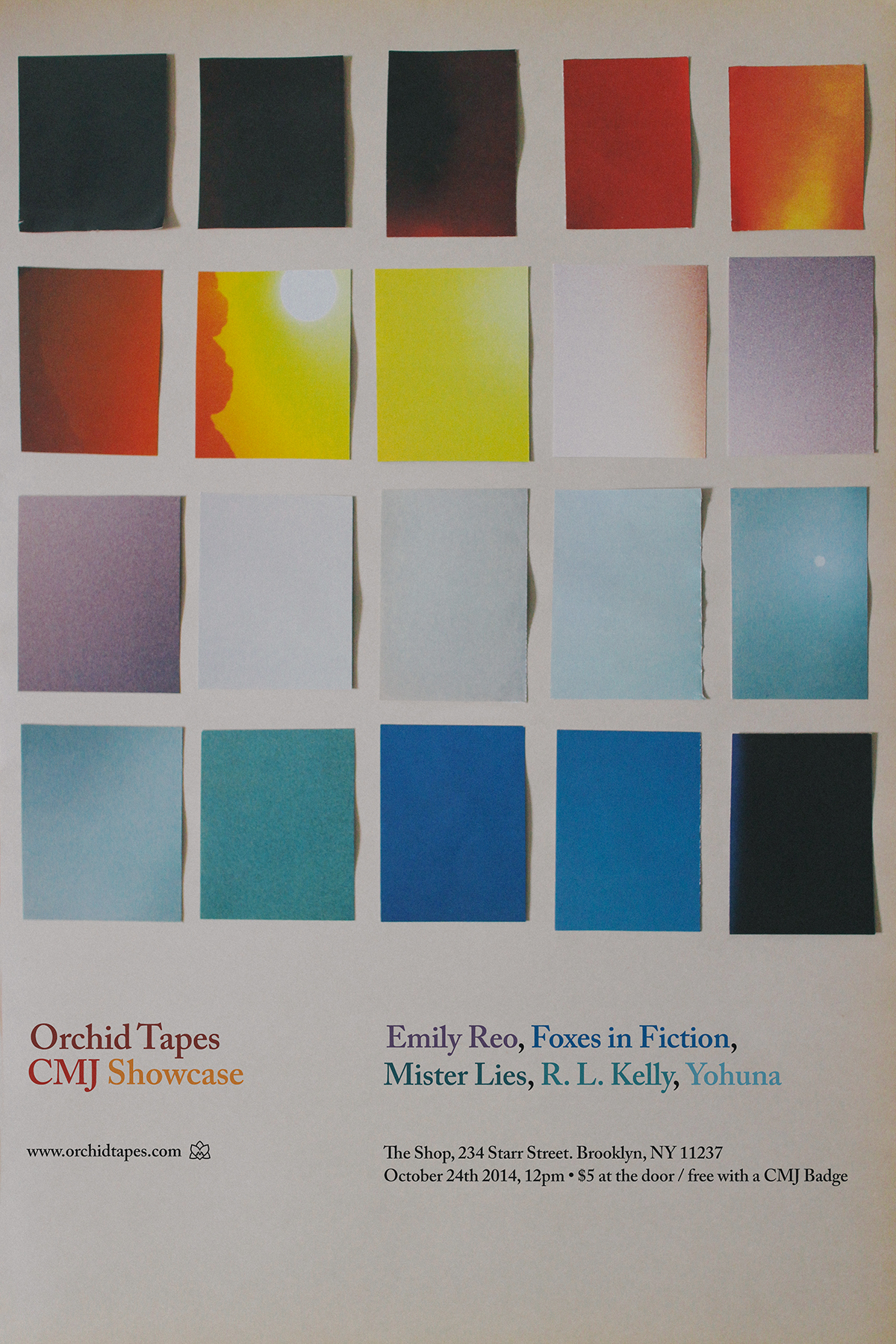 Orchid Tapes CMJ 2014 Showcase Poster