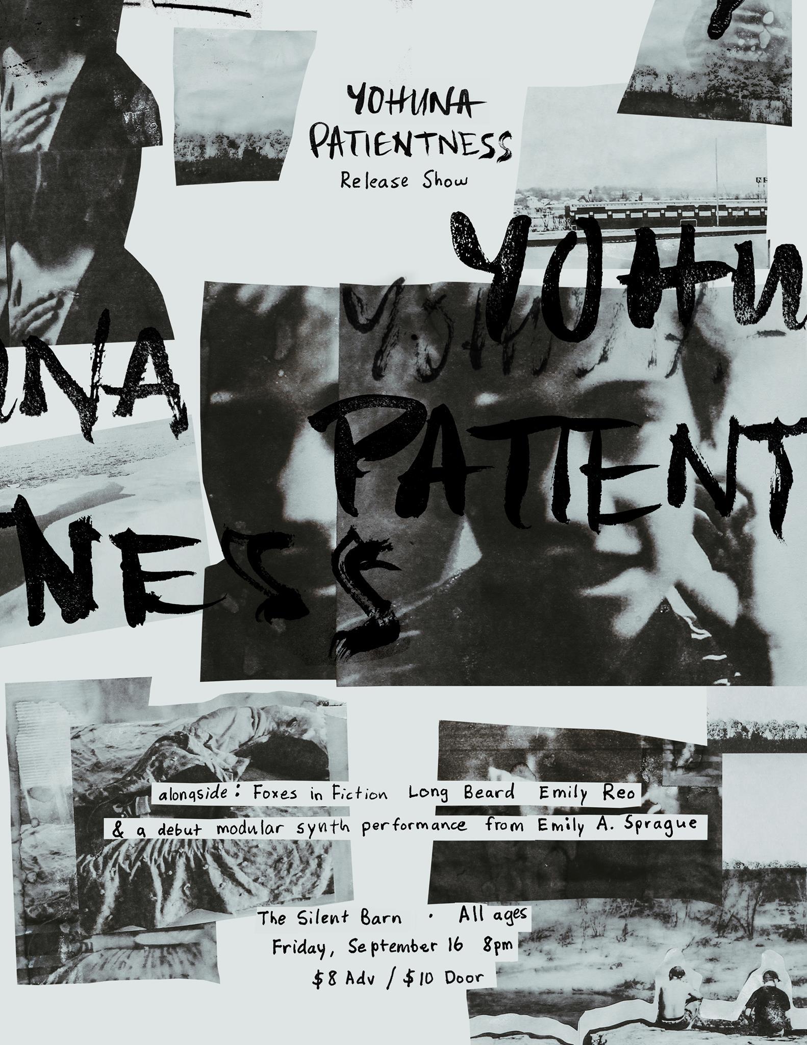 """Yohuna """"Patientness"""" Release Show Poster"""
