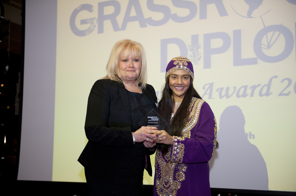 Winner Councillor Karen Bellamy with Director Talyn Rahman-Figueroa