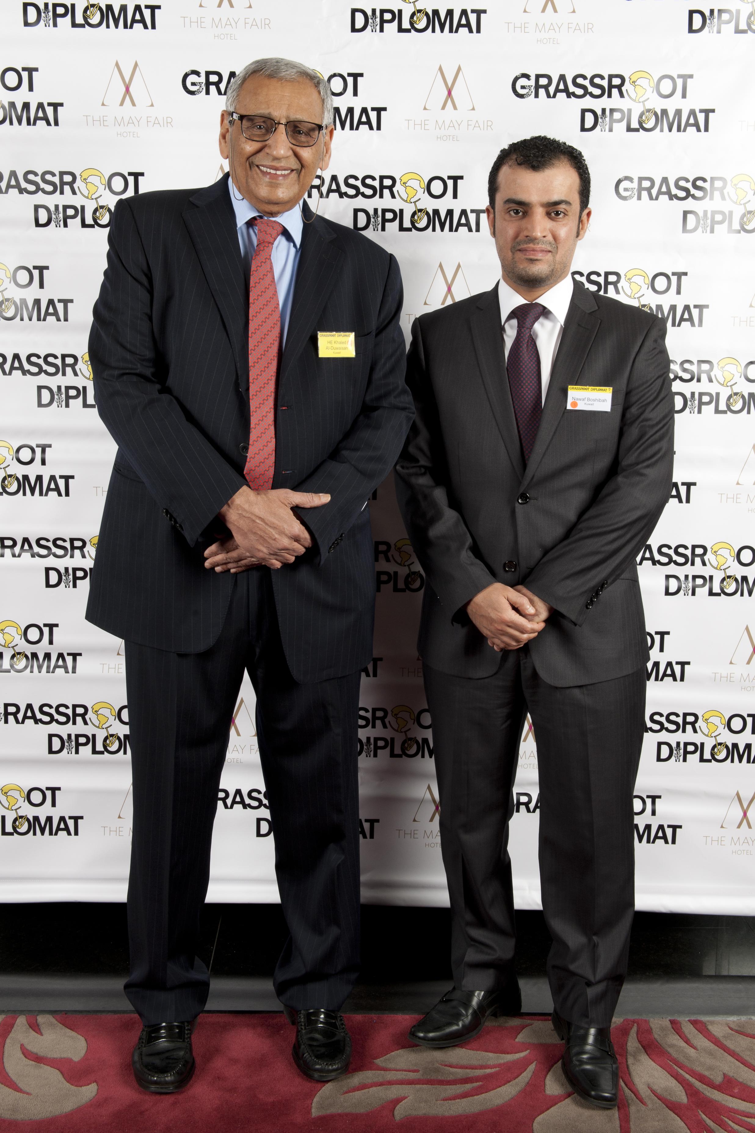 HE Khaled Al-Duwaisan and Nawaf Boshaibah (Kuwait)