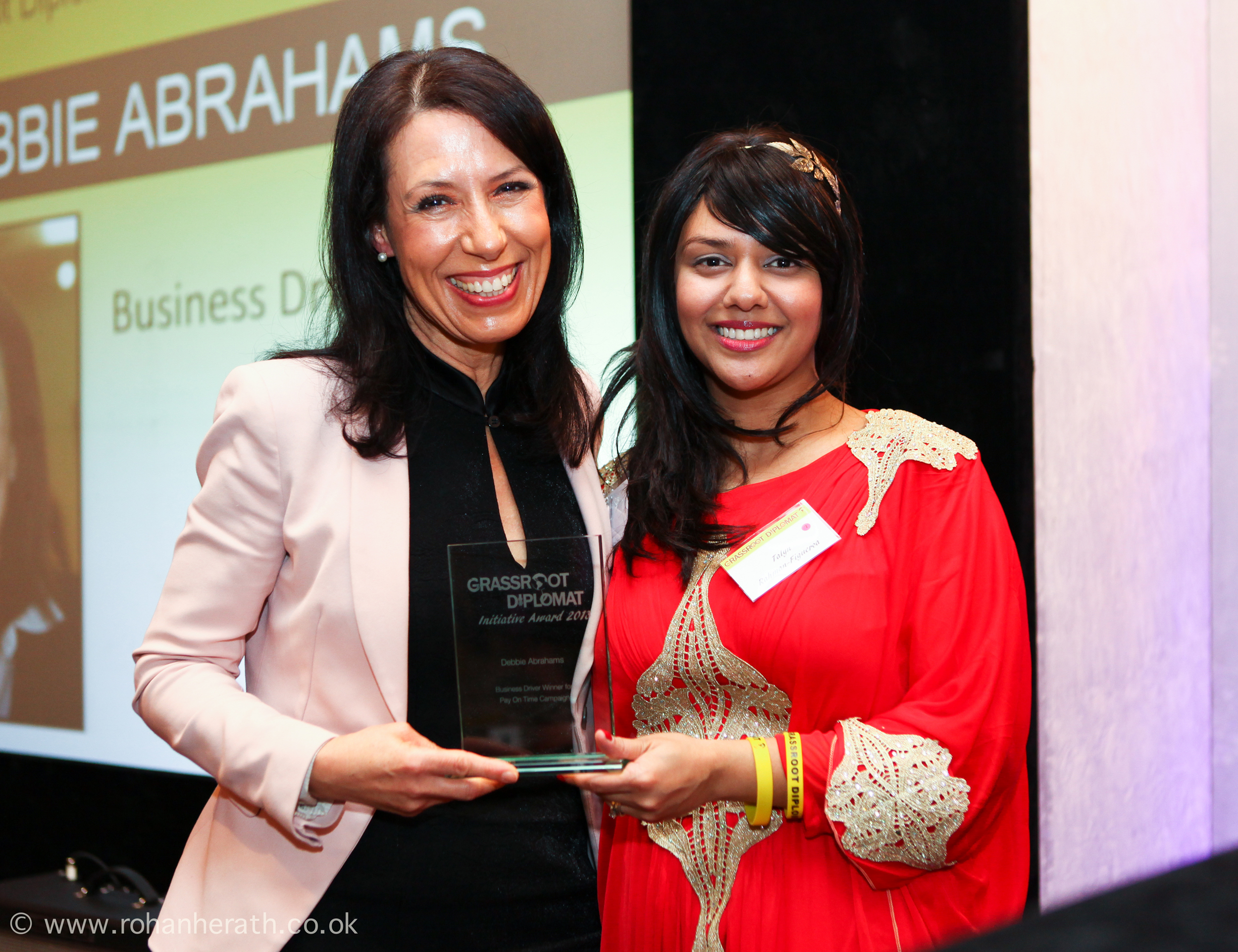 Debbie Abrahams MP and Talyn Rahman-Figueroa