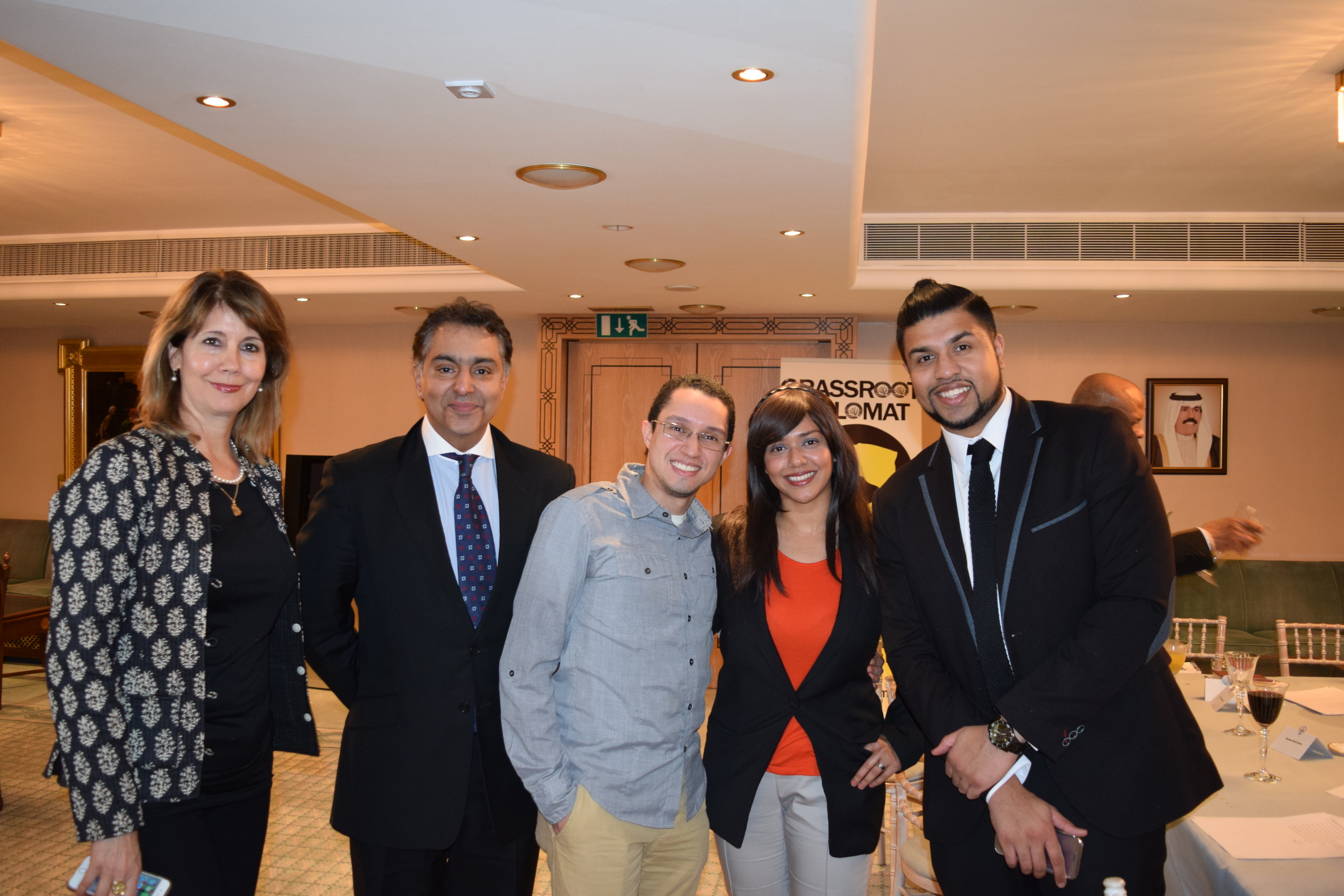 Kristiane Backer, Haras Rafiq, Anthony Figueroa, Talyn Rahman-Figueroa and Humza Arshad