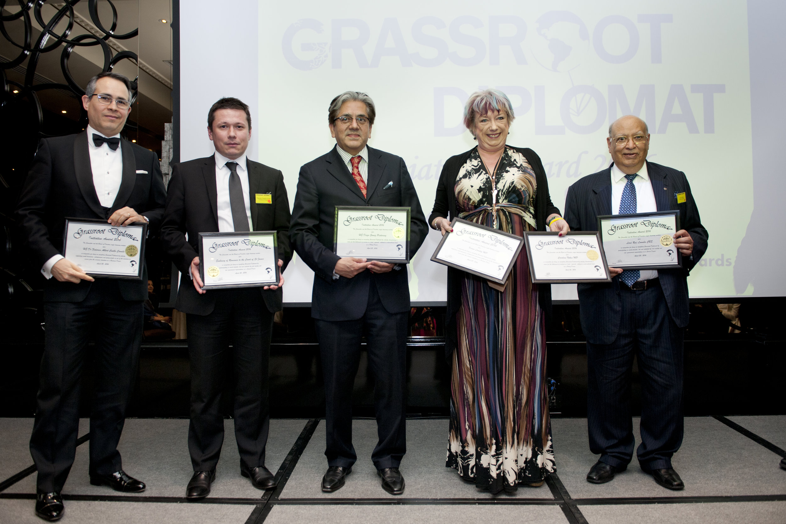 Theodor Cosmin Onisii with other 2016 Honourees (second left)