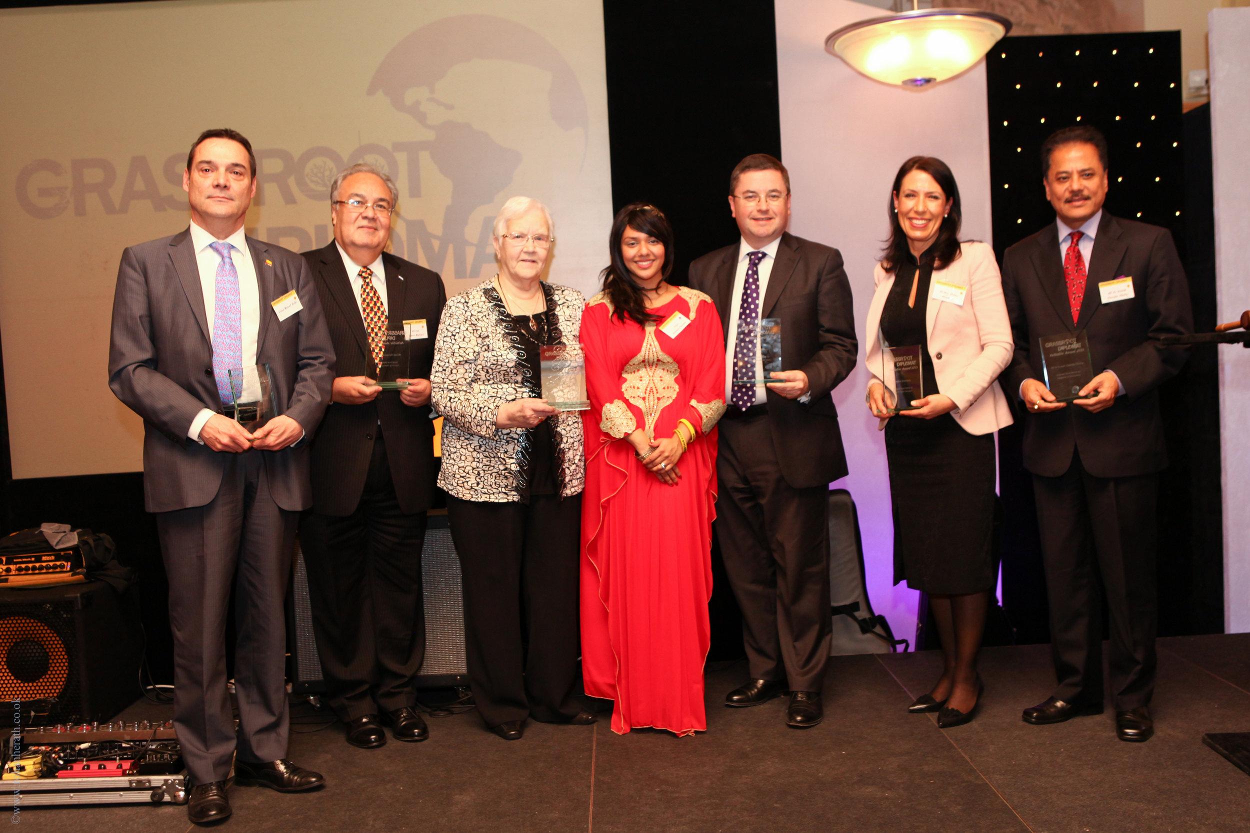 Winners of the Grassroot Diplomat Award 2013