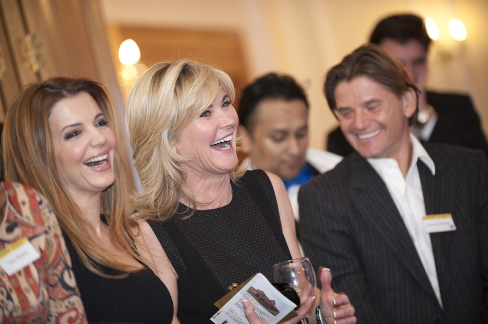TV presenter Anthea Turner with Dragon's Den Richard Farleigh and Dr Linda Papadopoulos