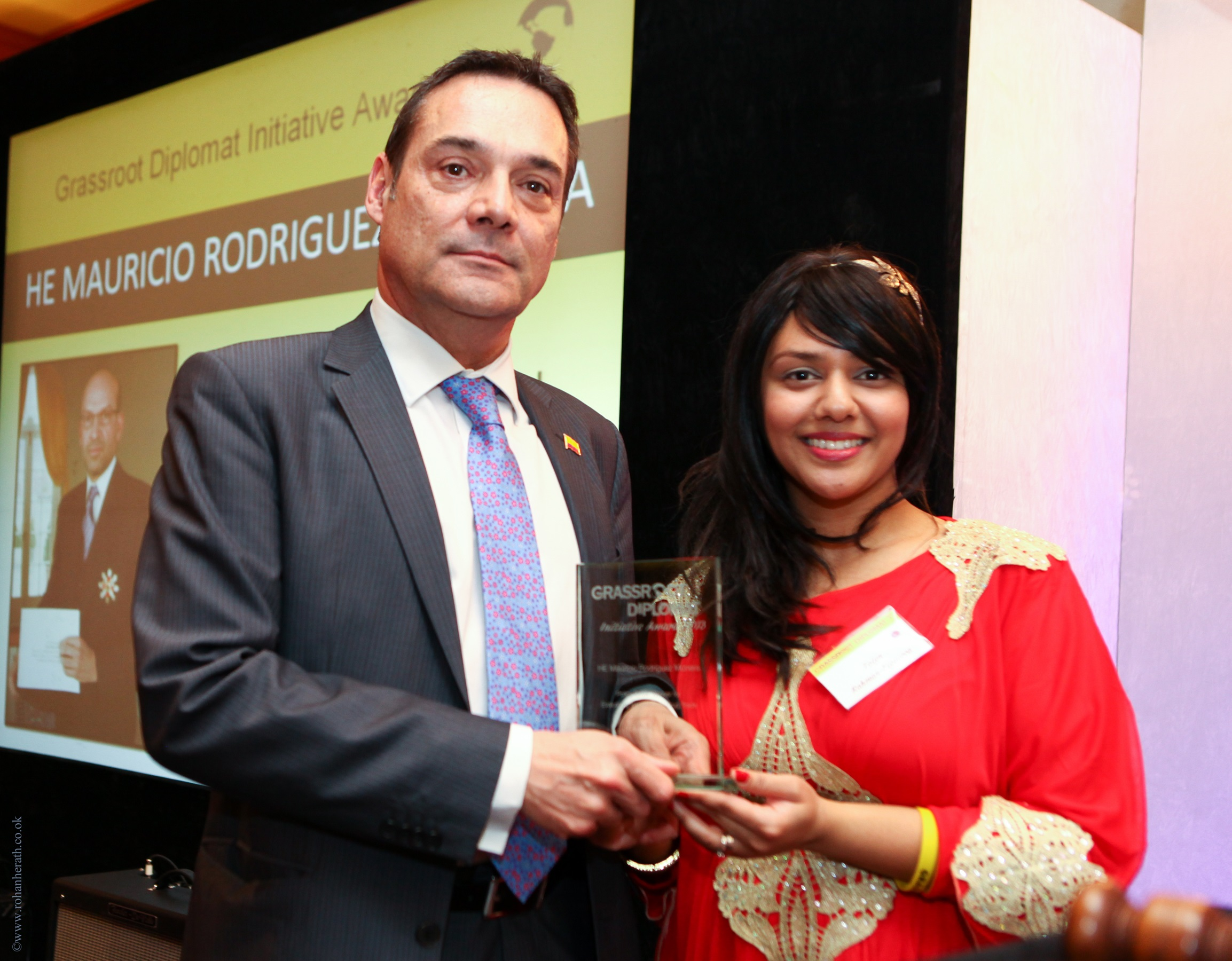 HE MAURICIO RODRIGUEZ MUNERA - EMBASSY OF COLOMBIAPOLICY DRIVER WINNER: EVALUATING INTERNATIONAL DRUG TRADE2013Colombian Ambassador His Excellency Mauricio Rodriguez Munera a vocal participant on tackling the war on drugs. The Ambassador has been a close associate in evaluating new alternatives to combat the production and consumption of drugs in helping the US with the war on drugs. Mr Munera feels very strongly on the prohibition of drugs and has helped define the grey areas in what was previously seen as black and white case on prohibition versus legalisation of drugs. The Ambassador was represented by Juan Manuel Uribe.
