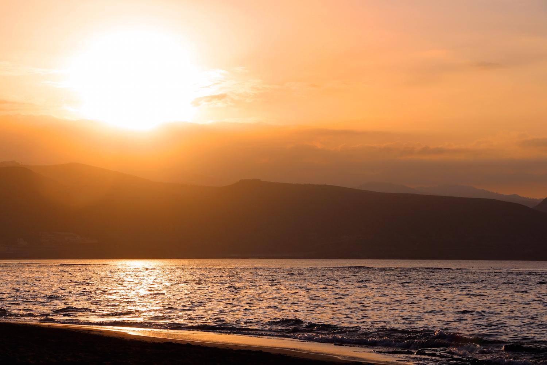 Last sunset of 2014 in Las Palmas, Gran Canaria