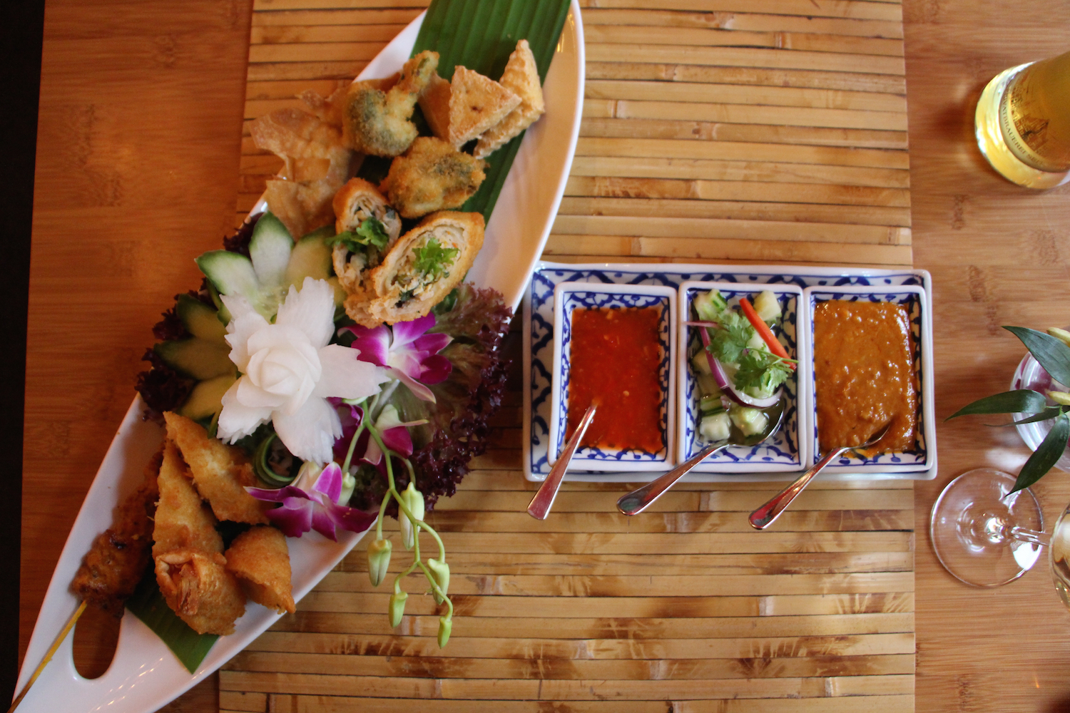 One of the many courses at  Dao Restaurant