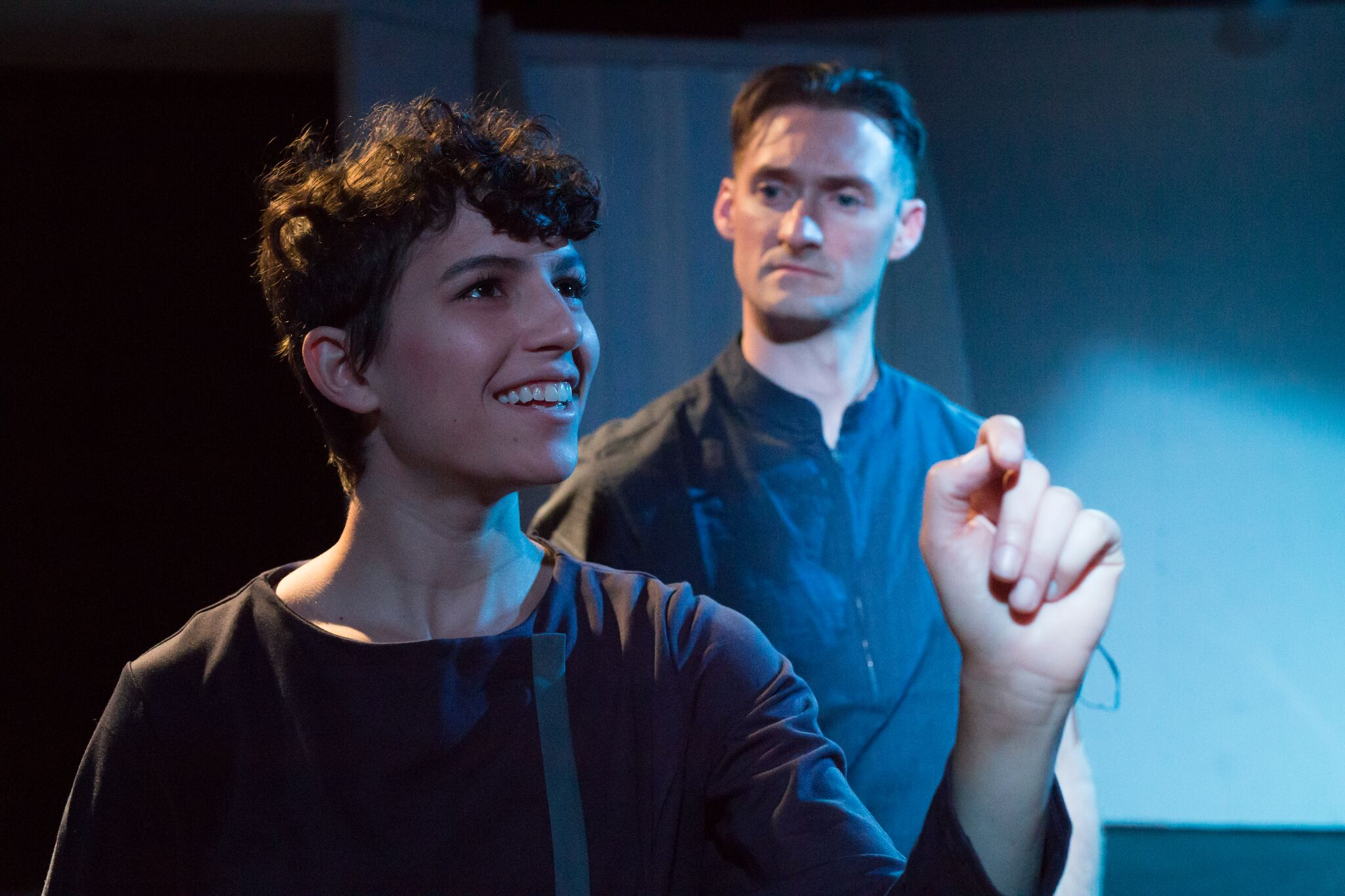 Image: Nicole Orabona and Ian Potter as Nora and Constantine in  The Aurora Project (Image Source: Dawen Huang for The Navigators)