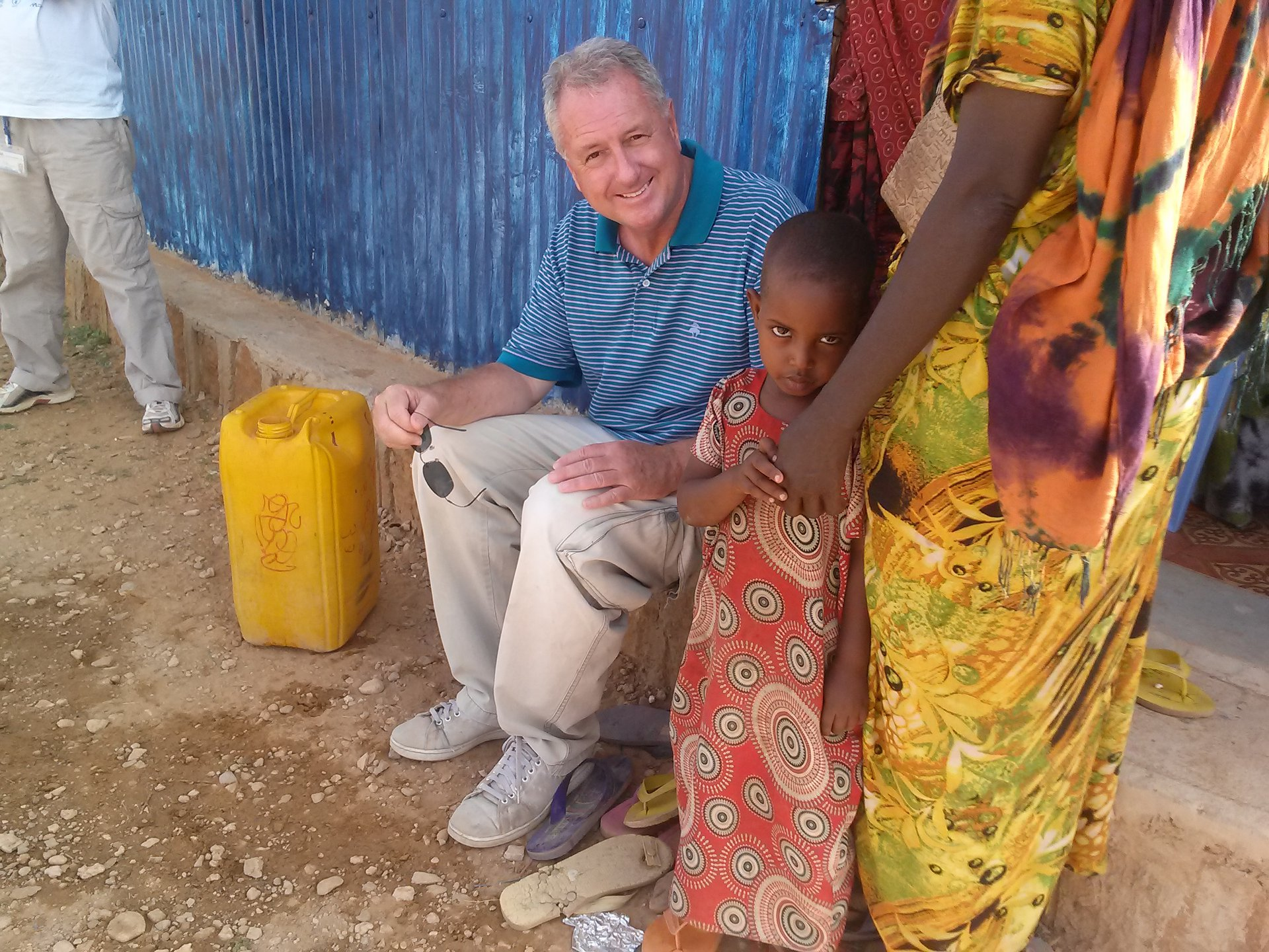 Peter in Ethiopia refugee camp