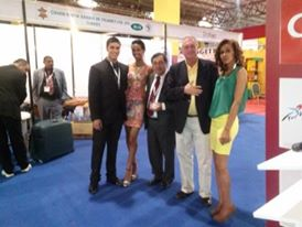 Peter with Ethiopian promotional models