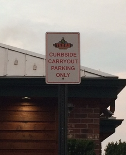 Okay, we all get this sign. But add to it three other restriction signs and it looks like you'll need to call a cab.