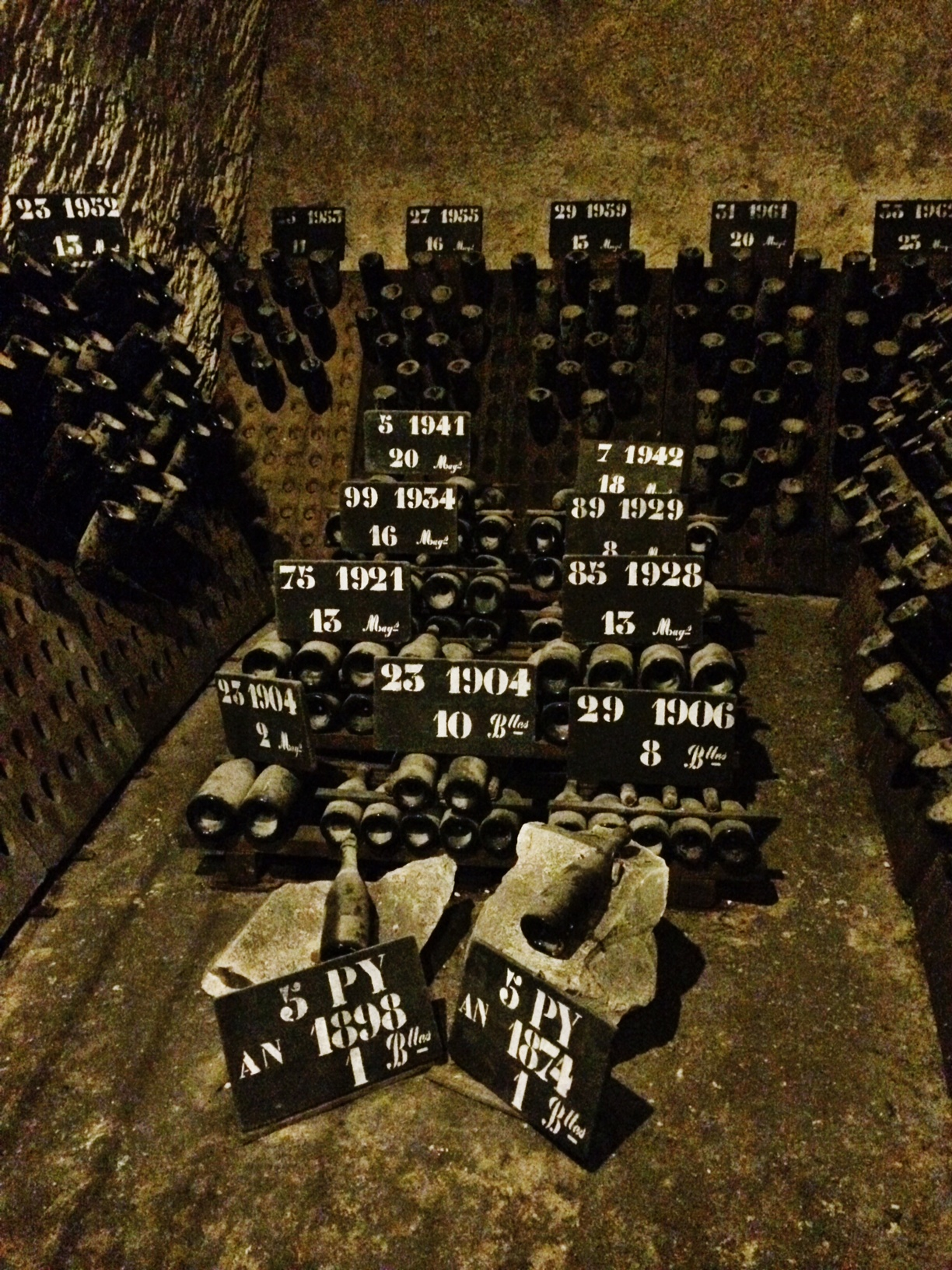 Vintage champagne dating back to 1874