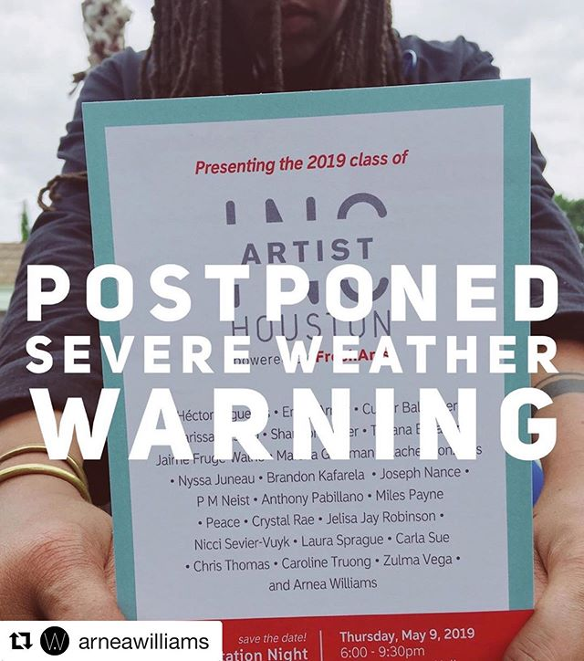 #Repost @arneawilliams with @get_repost ・・・ Unfortunately, the Artist INC 2019 Graduation has been postponed due to severe weather conditions.  I appreciate the support and will share the new date soon!
