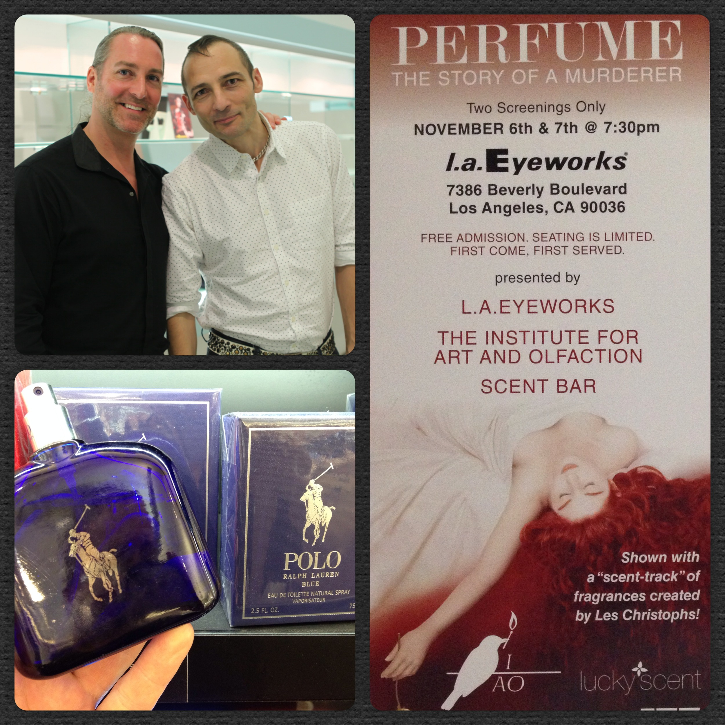 """Great time experiencing Christophe Laudamiel's inspiration and olfactory interpretations of """"Perfume-The Story of a Murder"""""""