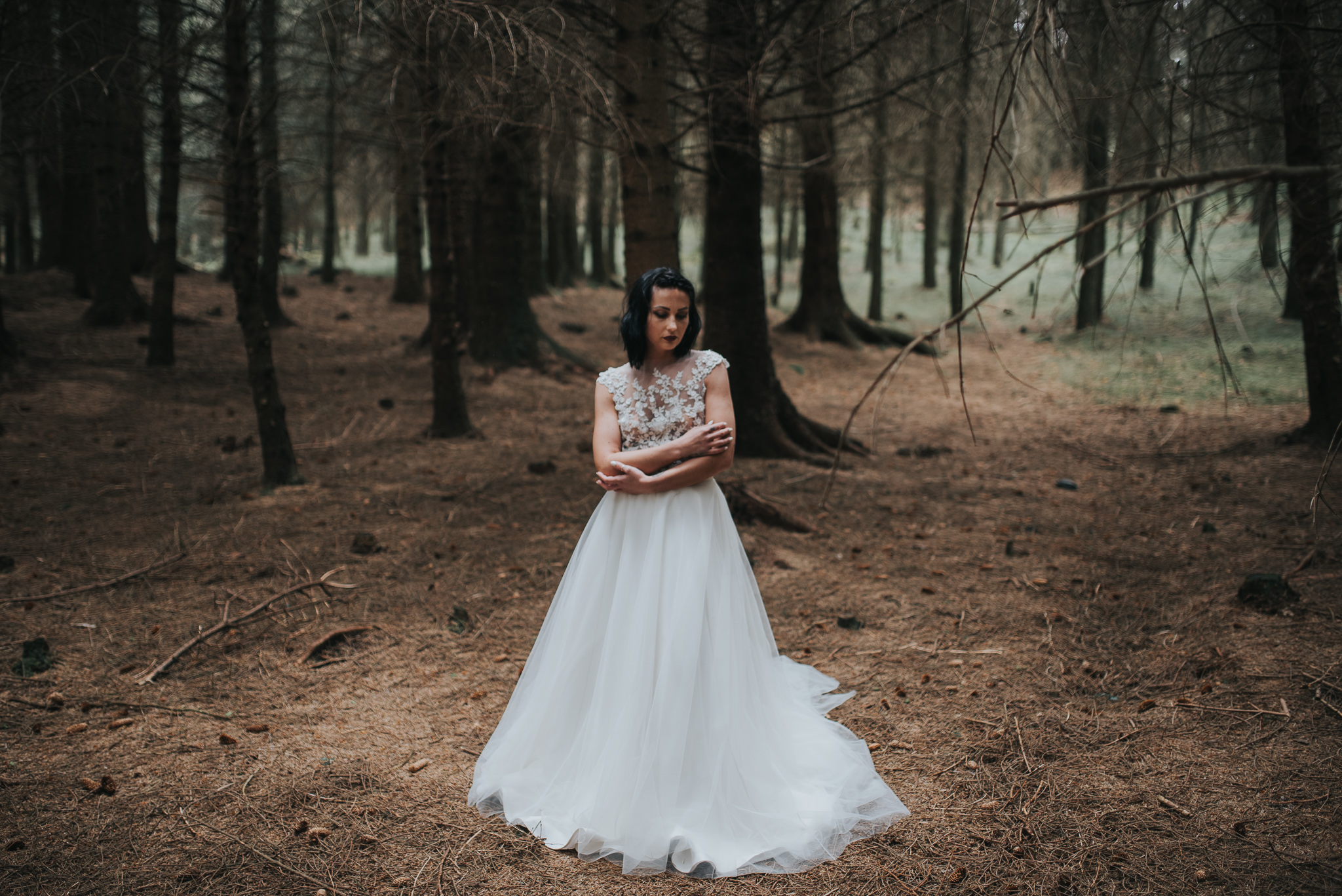 birmingham-wedding-photography-bridal-portraits-two-piece-dress-tulle-lace-separates