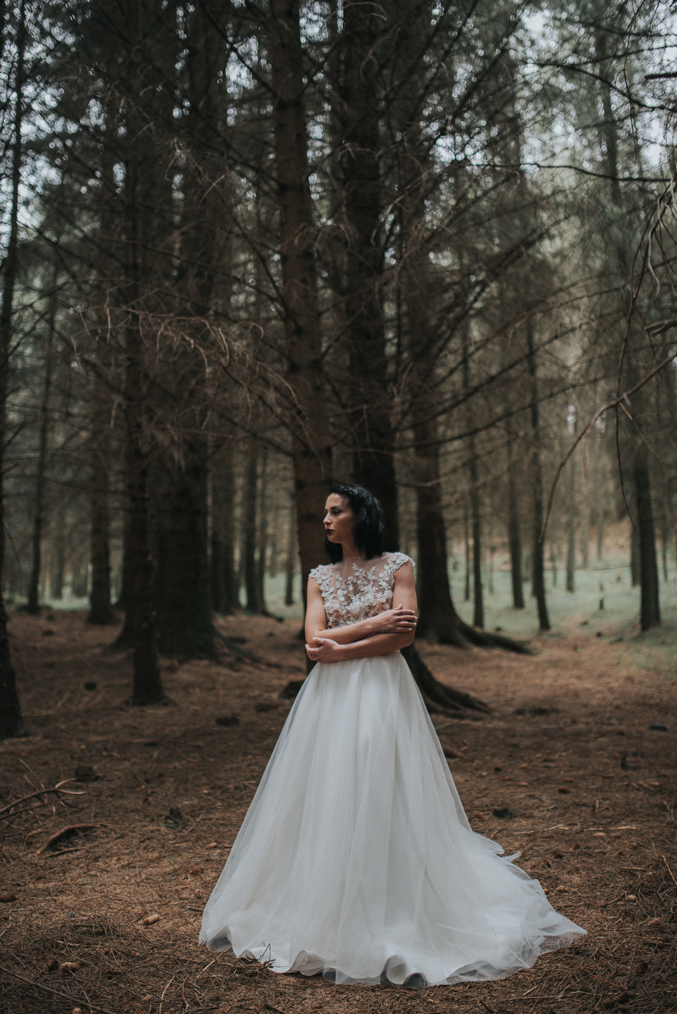 birmingham-wedding-photography-bridal-portraits-two-piece-dress-tulle-lace