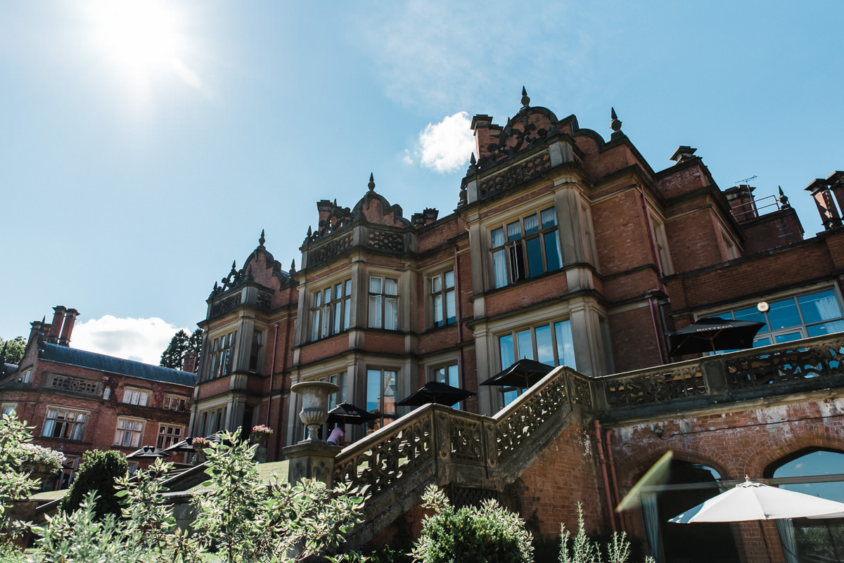 The Welcombe Hotel in Stratford-upon-Avon on a sunny wedding day.