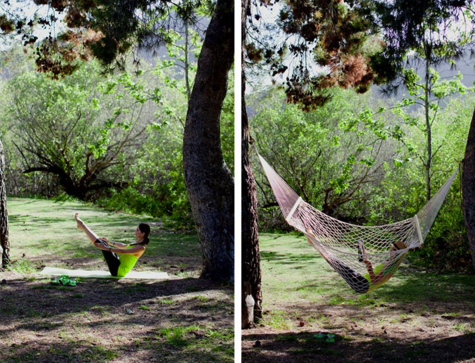 Boat Pose (Navasana), expertly demonstrated from the hammock.