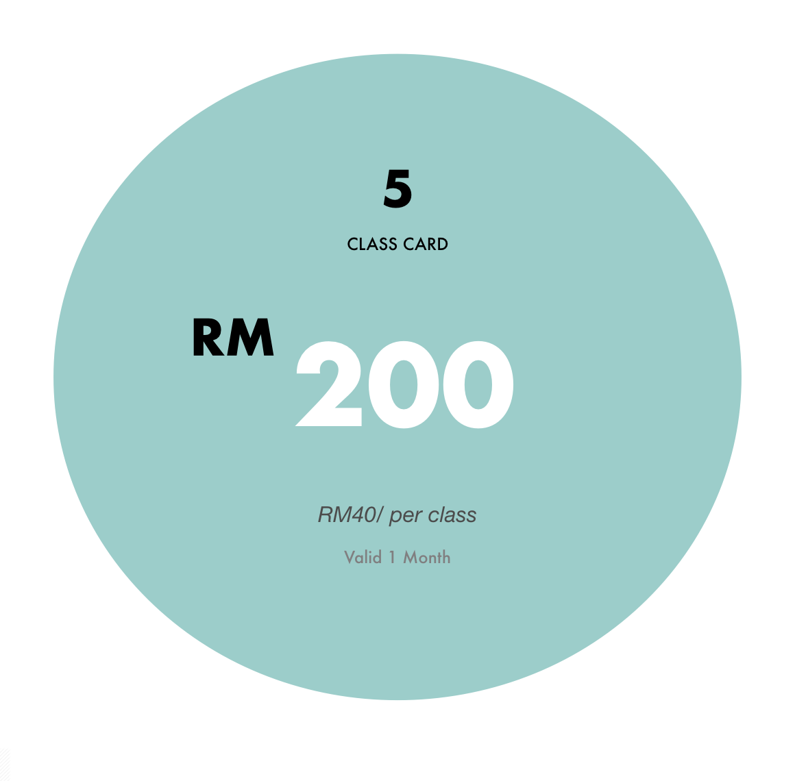 MYR30 Per Class