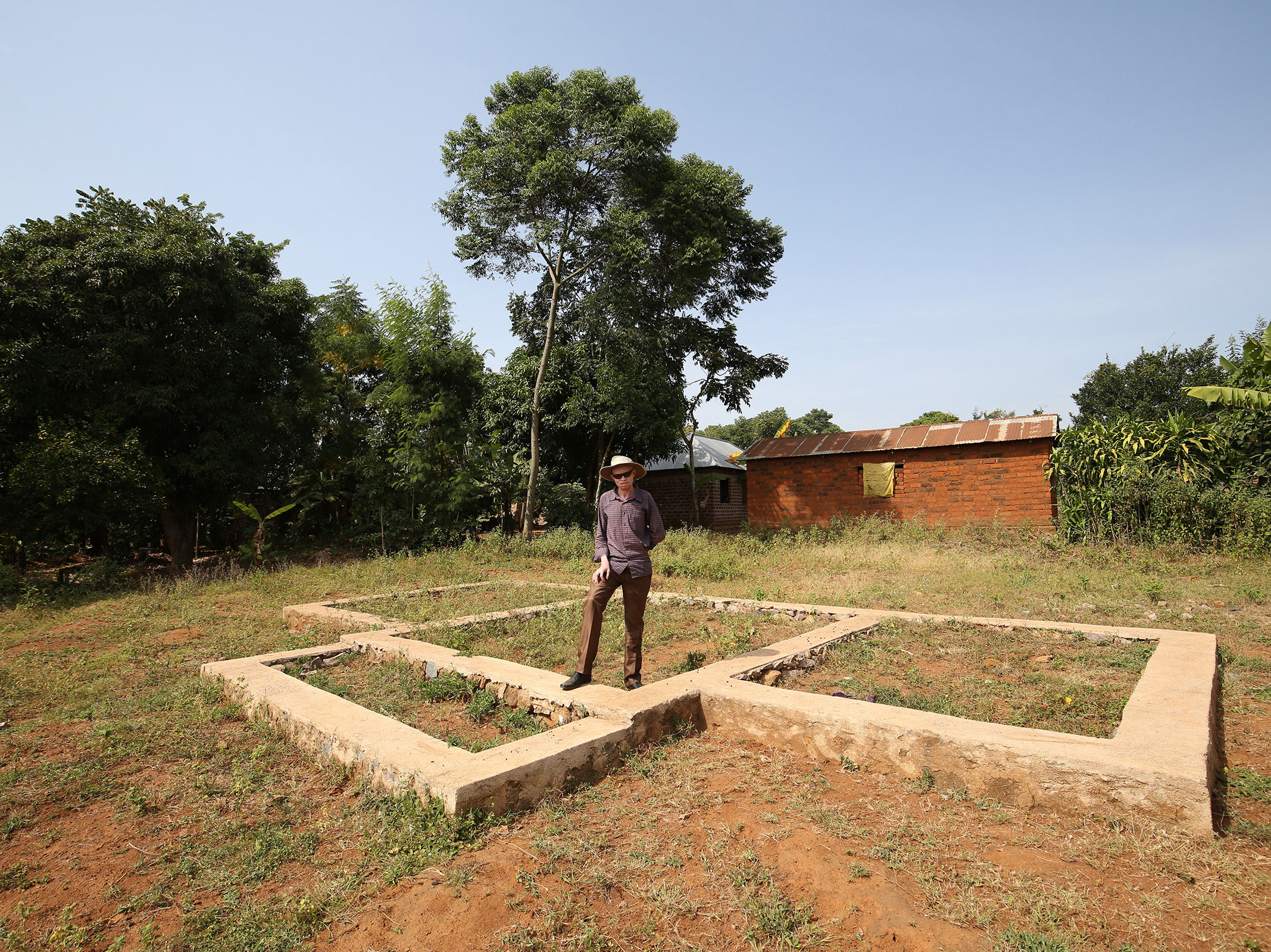 Risicky plans to build his own home.