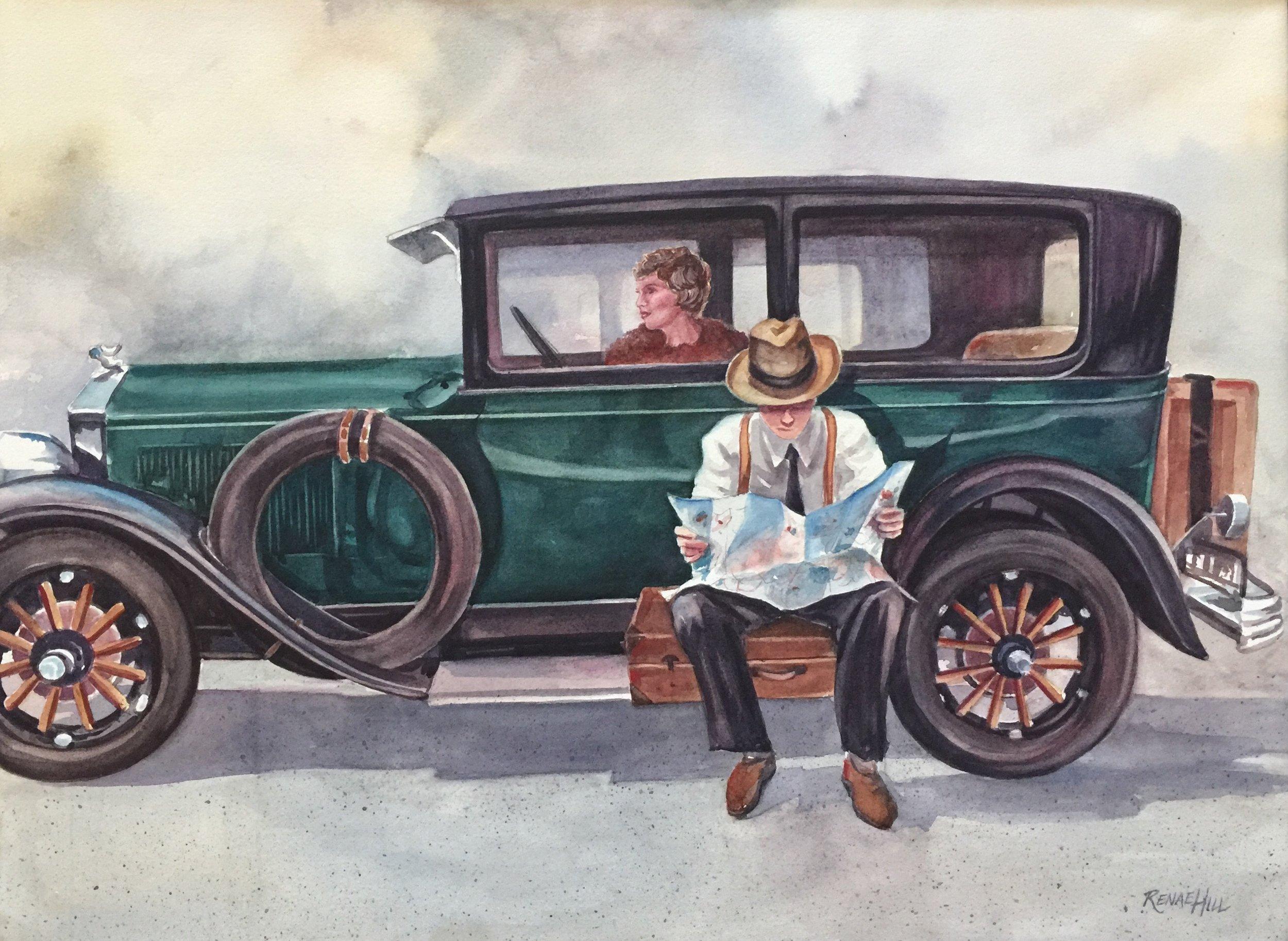 Last Turn  Watercolor 18x24