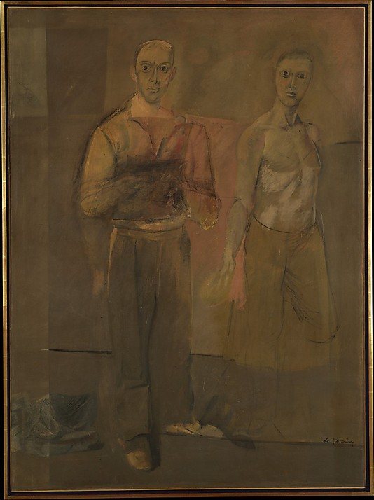 Williem de Kooning's Two Standing Men
