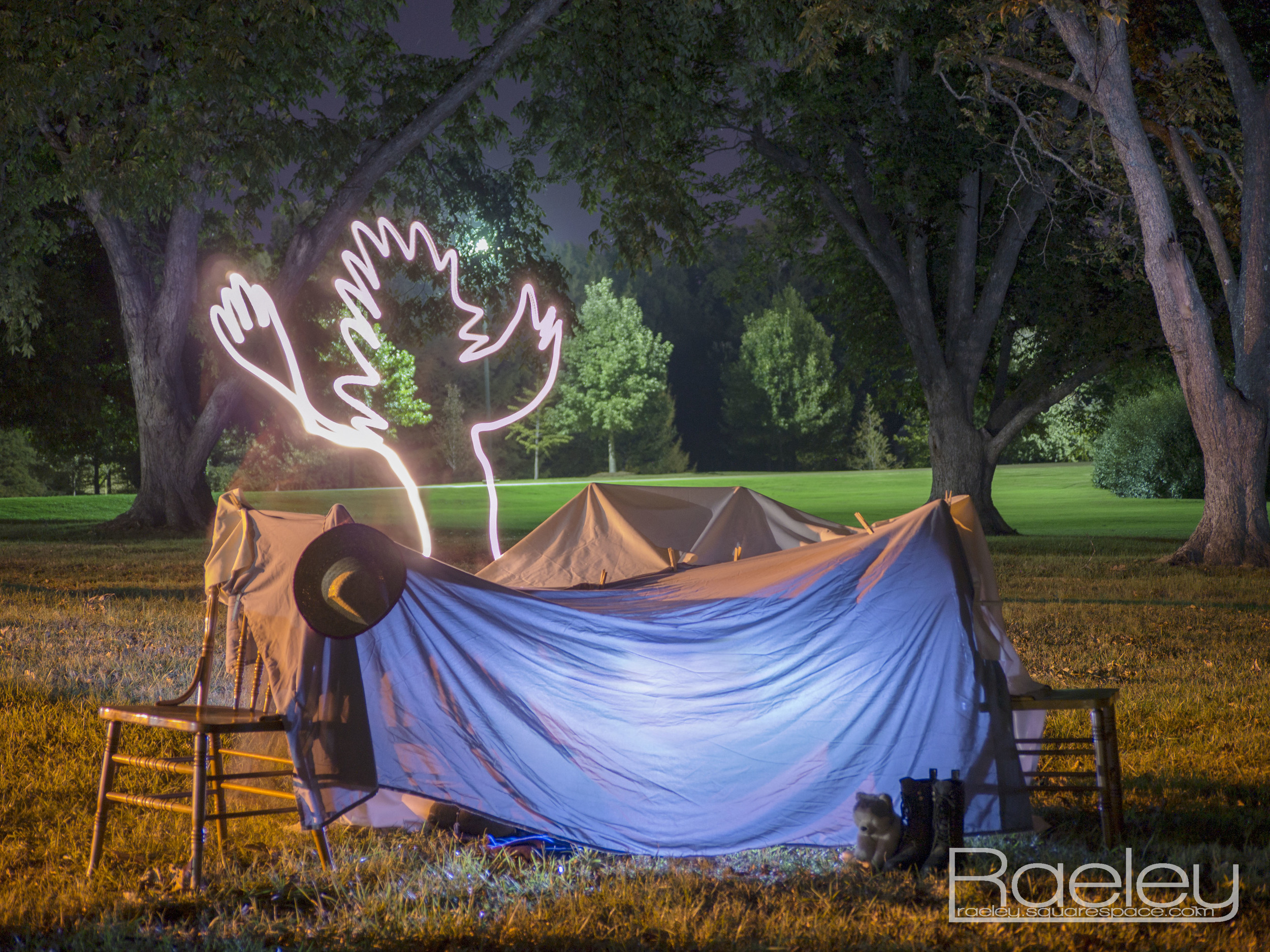"""""""Tent of Safety""""              The final product. Taken with a 30 second exposure at f 4.5 iso 160, edited in Photoshop."""