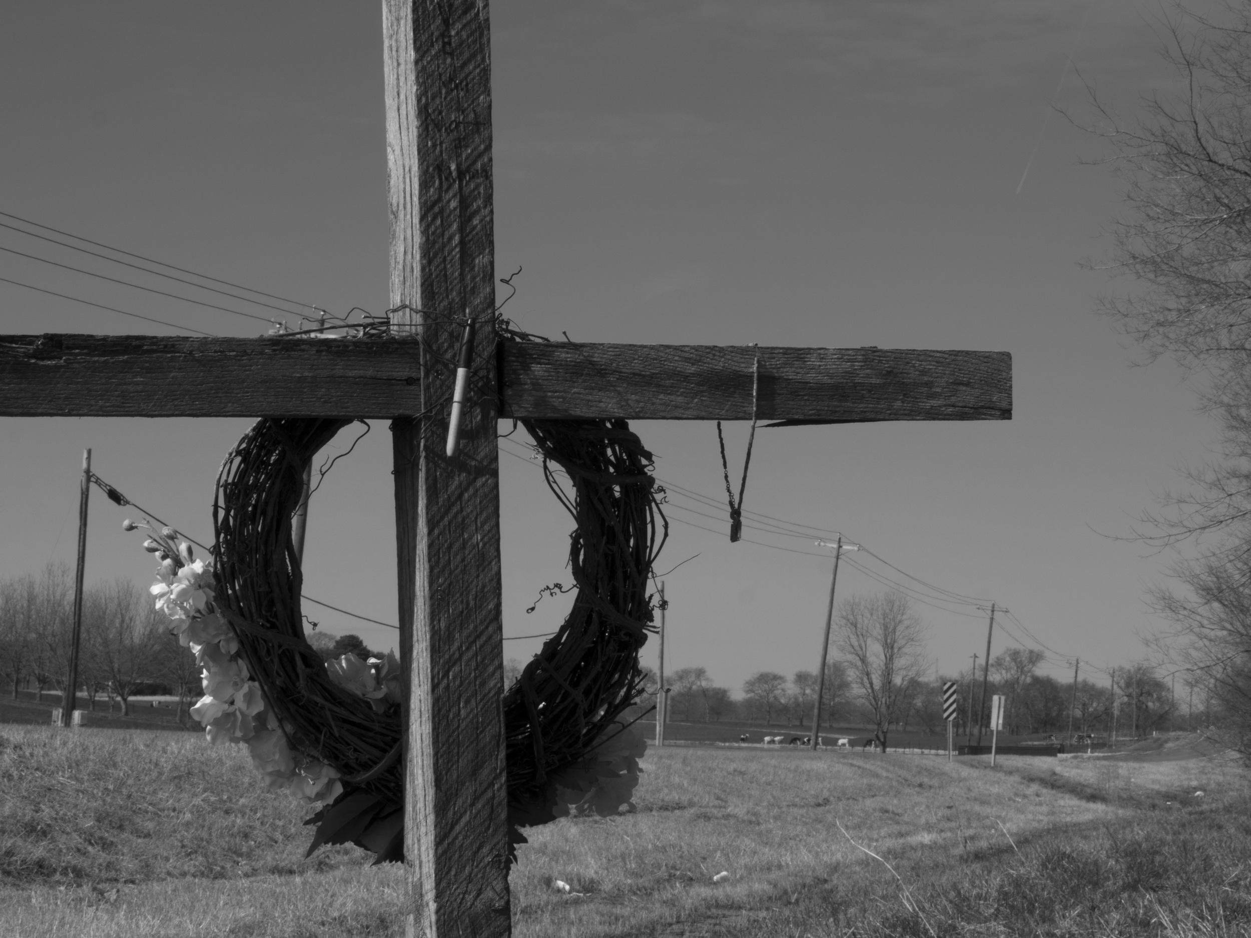 On the back of the cross was a sharpie, used to write notes to Jason. It is this one detail which slapped me in the face and broke my heart.