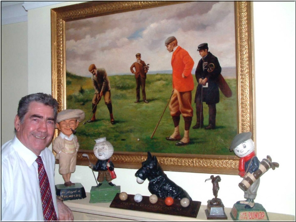 """My Name is George Scoble. i am an ex 6 h/c golfer (now at the age of 75 playing off a H/C of 14). I have since retired from running my own import and distributing business dealing with Bathrooms.      I have been collecting golf antiques since 1984. Some 12 years ago i started selling my collection online but ultimately found the website i was using too old fashioned and difficult to maintain.    Hence this new site.     The main difference between this site and many other sites selling """"antique"""" golf Collectable's is that it displays a much larger collection and a diverse Variety all separated into 13 different sections with the following feature's:      a. All items clearly priced.      b. Prices include shipping """"free of charge"""" (anywhere), inclusive in the advertised price.      c. Detailed close up photography that in many cases gives a better view than the naked eye.      d. a full refund (excluding return shipping) if you are in anyway dissatisfied with your purchase.      e. Details of any known restoration.      f. Direct email exchange with myself on any points regarding the proposed purchase.      g. Shipping carried out within 3 working days of payment."""