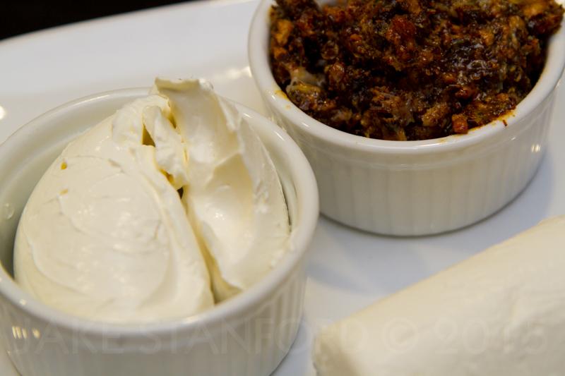 Mis en Place - Cream Cheese, Bacon Jam, Goat Cheese