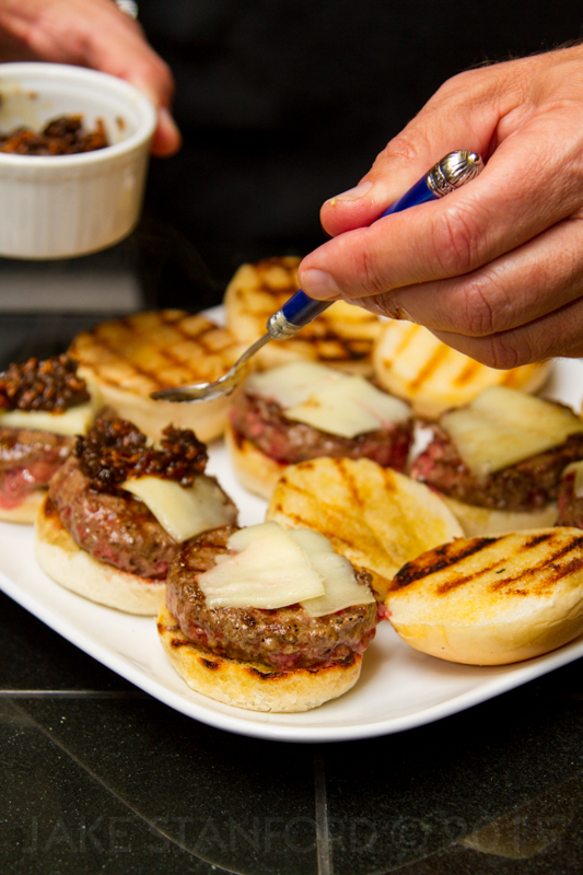 Add a dollop of Bacon Jam to each Slider