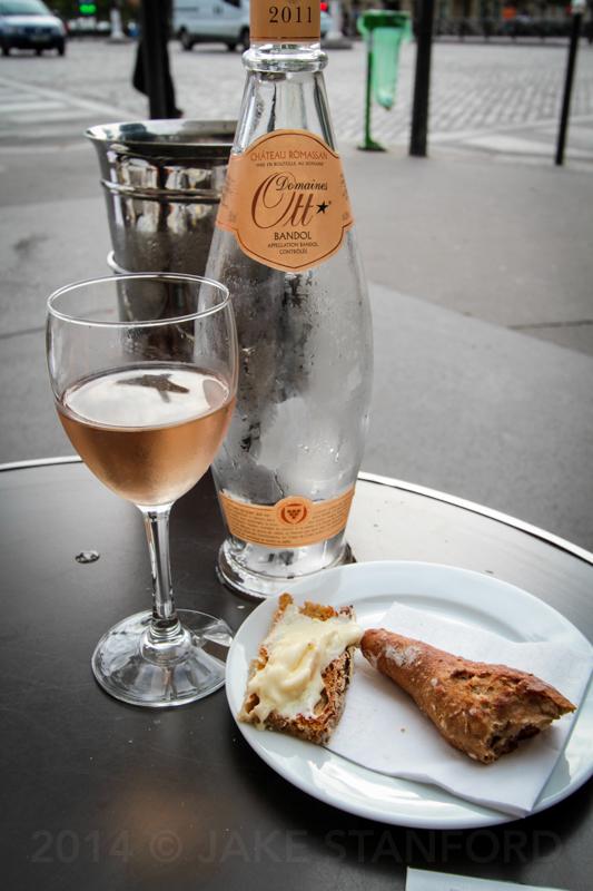 at a bistro in Paris