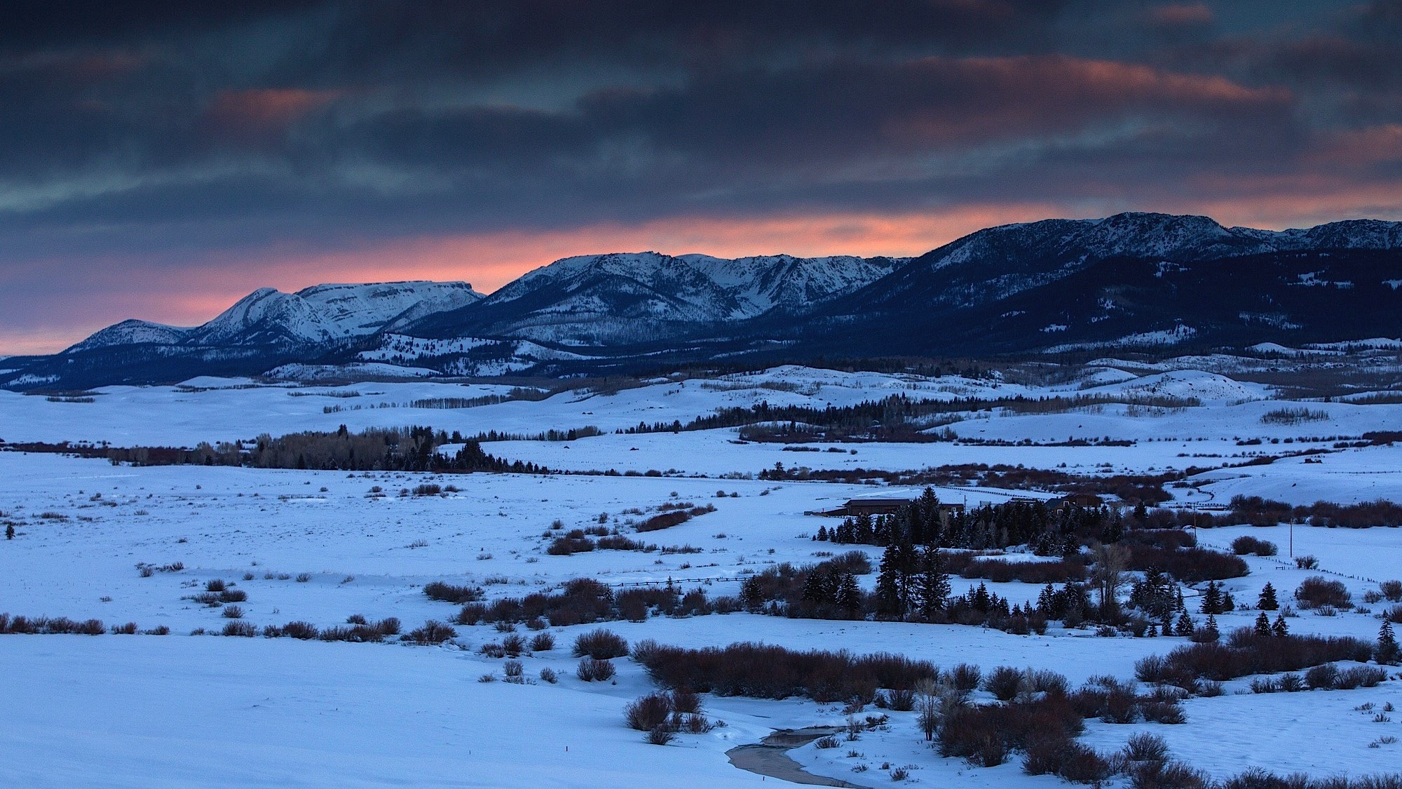Sunrise over the Winds from the Cora road in the Upper Green River Valley, WY