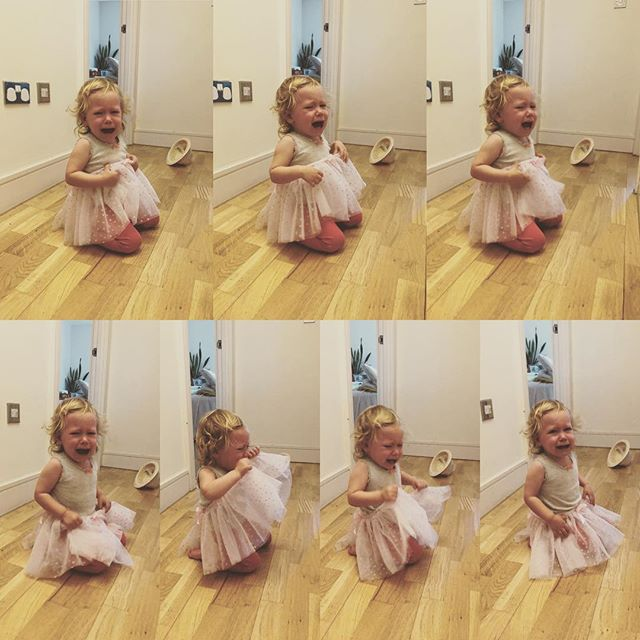 Mila's loving her new tutu. #baby #tutu #dancer #tinydancer