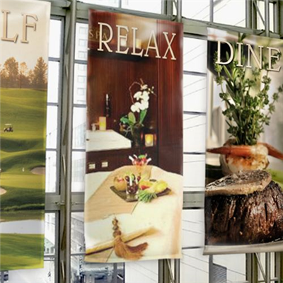 Smooth vinyl perfect for trade shows and indoor displays. Single-sided from 2'x2' to 5'x35'.