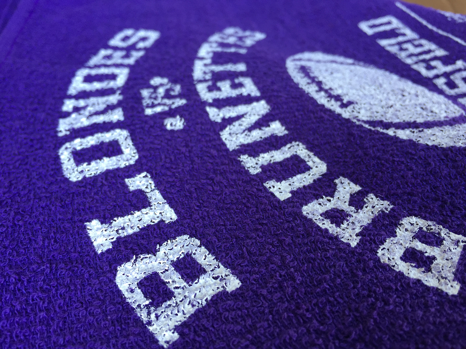 Terry cloth towels are naturally rough. when printing, some detail is lost.