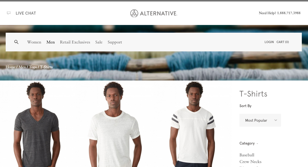 alternative apparel's wholesale website. check out their line for fashion friendly, earth friendly, and eco products.