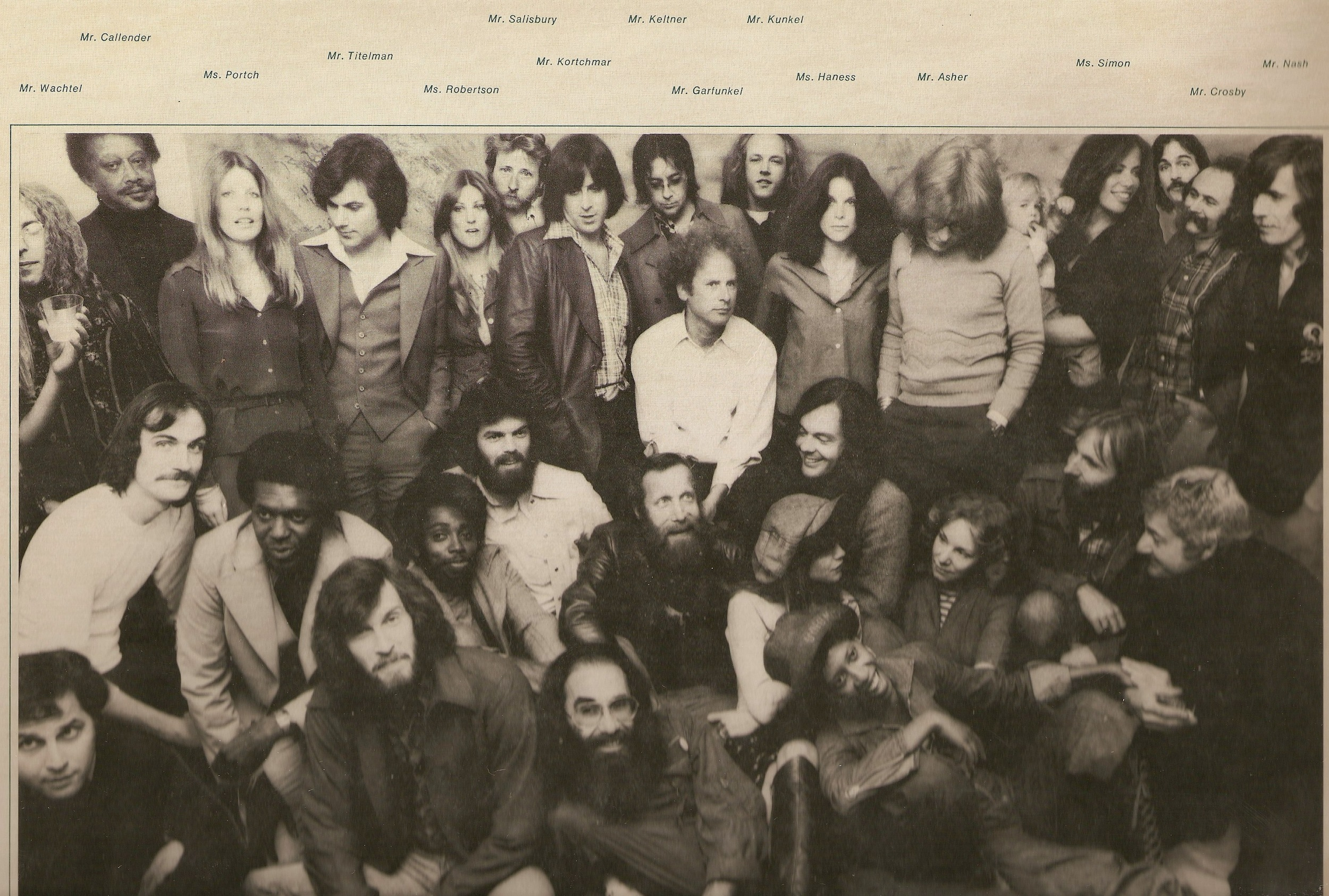 "James Taylor's ""In the Pocket"" album cover. Carter is top row, 5th from the left."