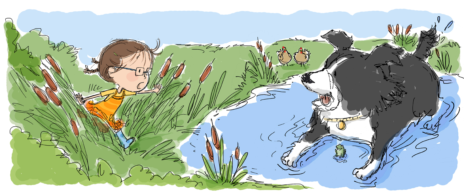 girl,dog,pond BURRIS copy.jpg