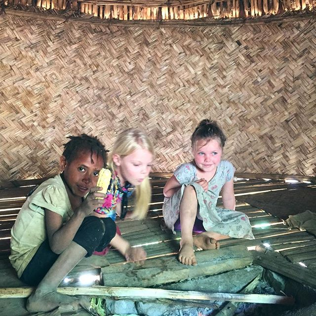 Cooking some corn in the fire with Maven! This is what snack time looks like for kids in the tribe. Our girls have learned too, that culturally you should always share your snack with other kids that are around. If you pull out your cracker in front of 10 kids, you might just get a tiny piece! #triballife
