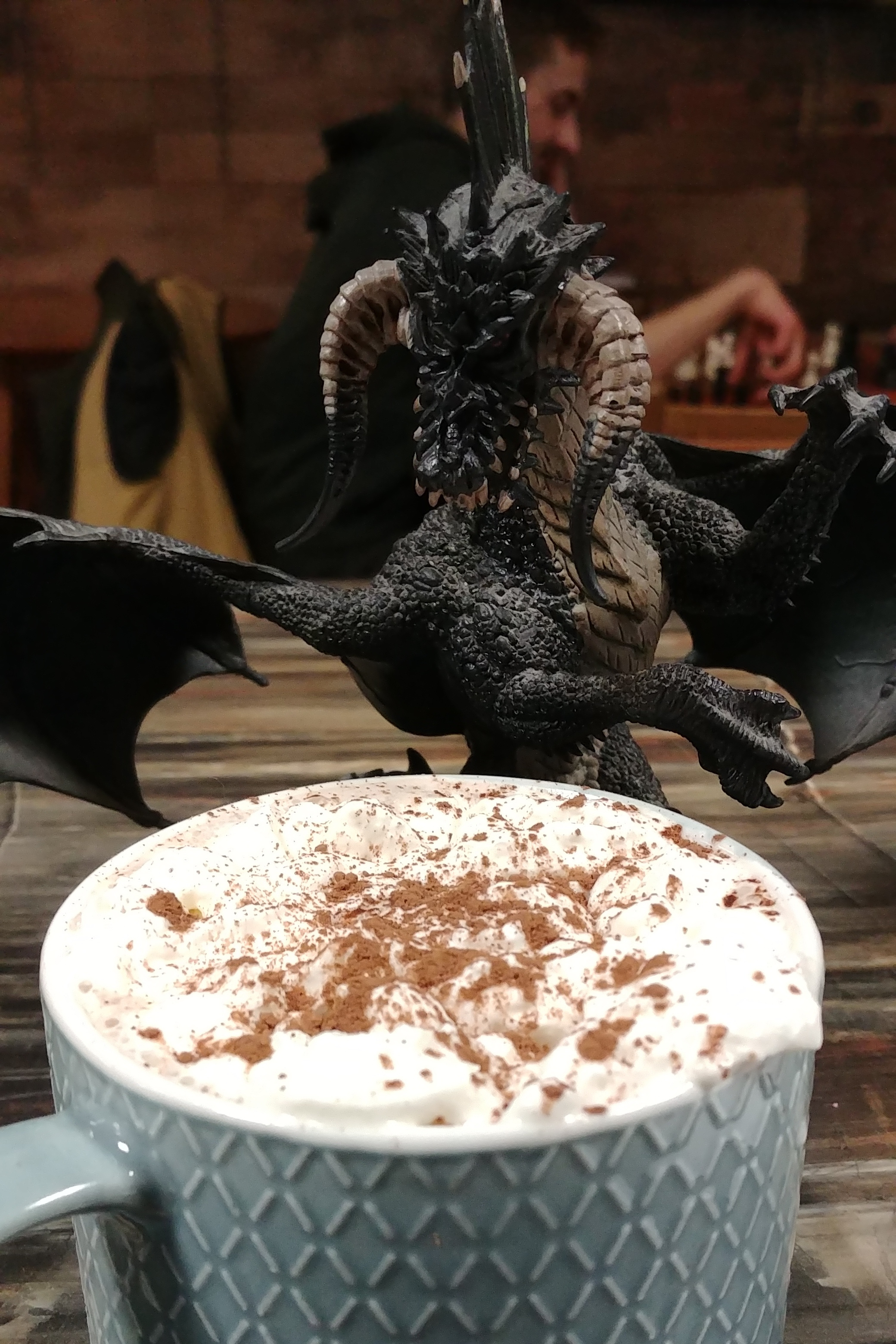 This dragon was very grateful, despite his natural evil, to drink a Guild patented Misty Mountain.