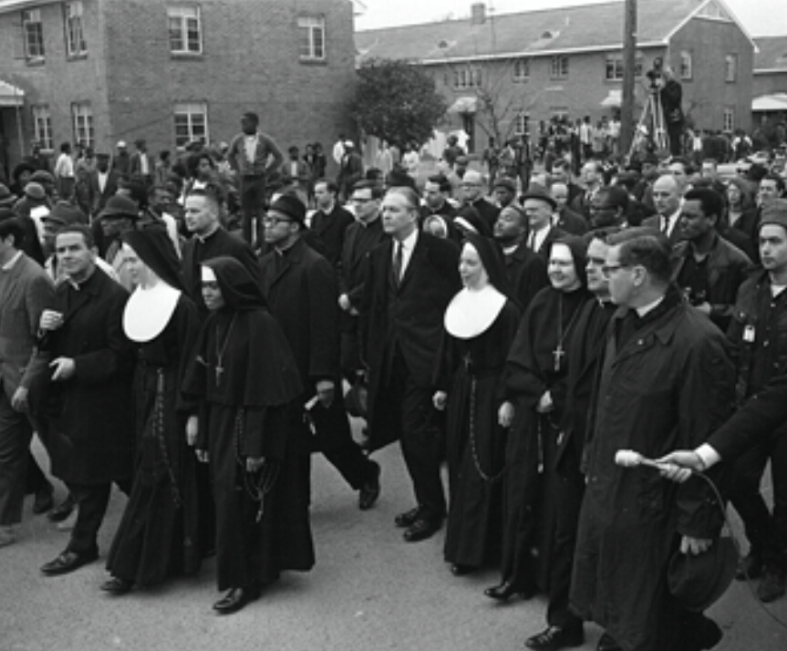 MLK sent out a televised call to all who believed in equal rights and believed that mankind should stand together in unity, as Christian brothers and sisters. People from all over the country, of all races, gathered by the thousands for this monumental march.