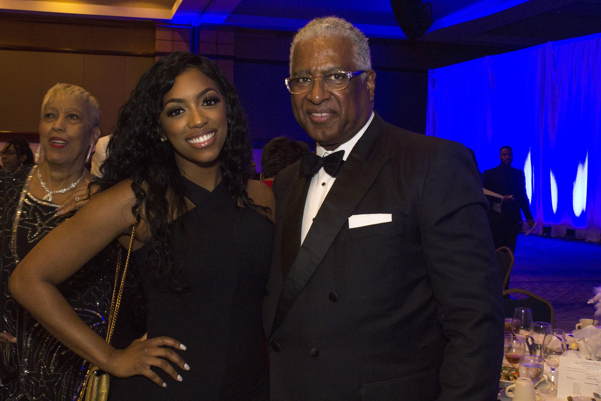 Porsha Williams of Atlanta housewives and Birmingham Mayor William Bell.