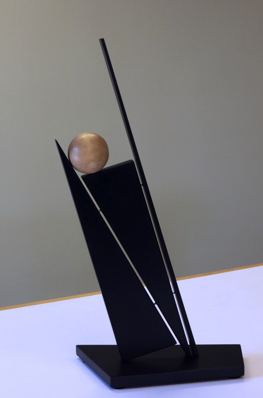 "Balancing Act   , 2012   paperstone, maple  21"" x 12"" x 6"""