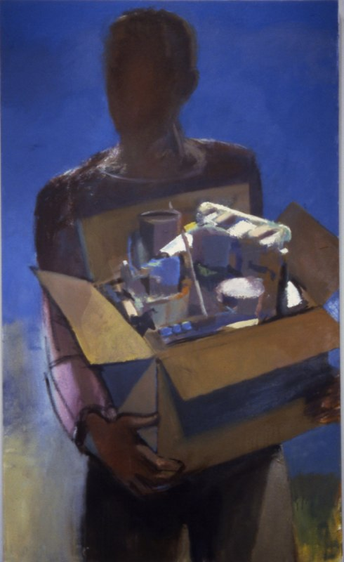 "Collections   , 1998   oil on canvas  60"" x 36"""