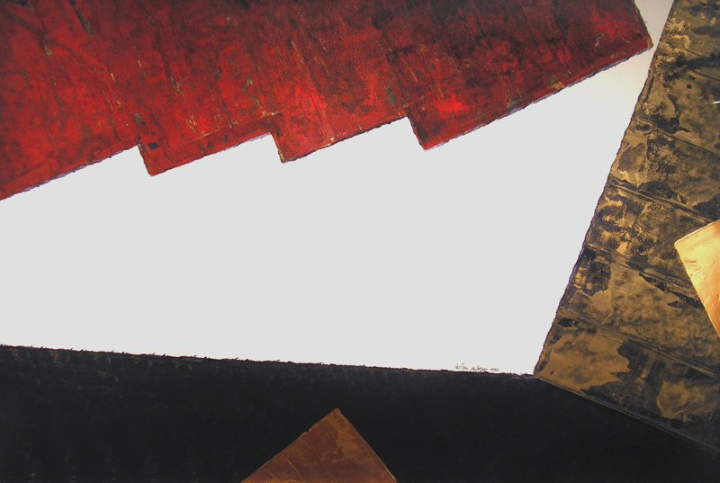 "Untitled    ,  1990   acrylic on paper  45"" x 65"""