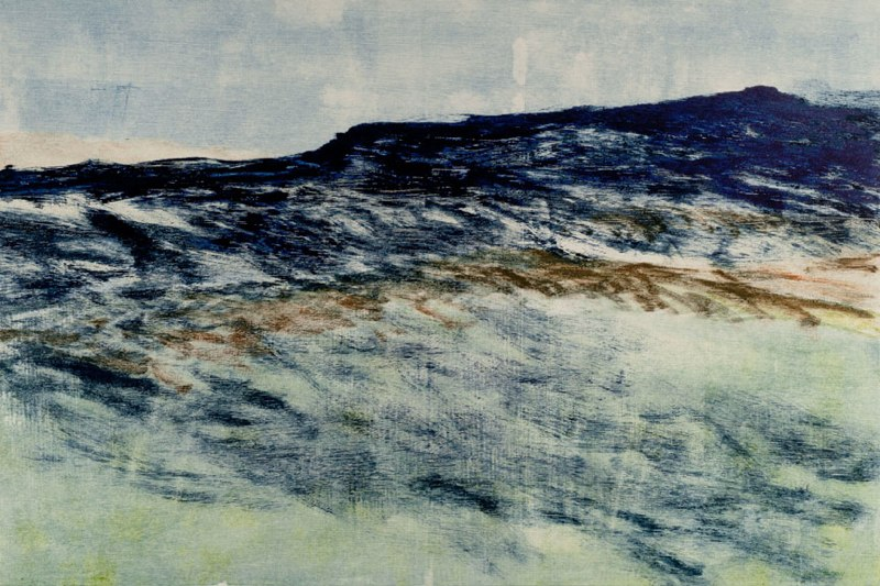 "Grand Mesa I    ,  2011   monotype on Rives BFK   28   1/4  "" x 38   3/8  """